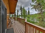 Soak up the magnificent sights form the wraparound deck.