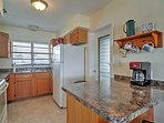 Prepare a hearty dinnertime feast in this fully equipped kitchen.