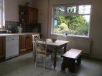 kitchen with view of Binevenagh to front and Donegal hills to side