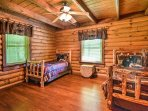 Kids will love claiming this bedroom with 2 twin beds at night.