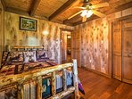 All 3 bedrooms feature weathered wood furnishings and plenty of closet storage.