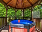 Utilize the hot tub for an additional fee.