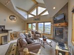High vaulted ceilings and rustic decor welcome you to your Fraser home-away-from-home.