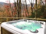 The brand new 6 person hot tub is the perfect spot after a day of hiking the nearby trails.