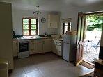 kitchen overlooking pond