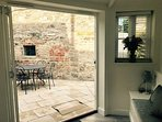 Bifold doors out to the private courtyard garden