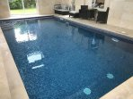 Lovely indoor swimming pool, attached to the house