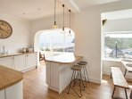 Kitchen, Sunroom and Dining Space with Beach Views