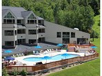 The Nordic Inn large outdoor pool.