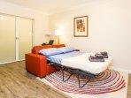 Privacy Sliding Doors Between Bedroom and Sofa Bed
