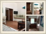 Upstairs 2 b'room unit. Living and kitchen areas.