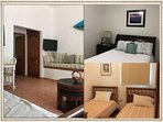 Upstairs 2 b'room unit. 1 queen size bed and 2 twin size beds