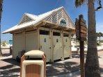 Beach bath house