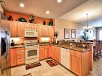 Kitchen has all the conveniences of home.