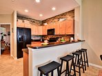 Breakfast bar is perfect for a quick meal.