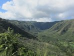 Halawa Valley, hike to a 500 foot double waterfall.