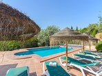Good sized pool with excellent terraces and BBQ!
