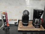 FILTER COFFEE, ESPRESSO, TEA FLAVORS ARE PROVIDED