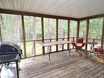 Savor your coffee on the screened porch.