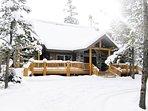 Whispering Pines Island Park, Idaho in Winter