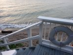 your deck going down to beach