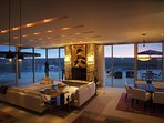 Evenings are as beautiful as day - a result of the designer lighting systems.