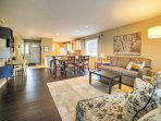 The 1,250-square-foot condo has been newly decorated and remodeled.