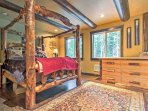 The master bedroom offers a queen-sized bed.