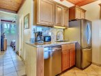 Prepare a fabulous meal from your recently remodeled full kitchen.