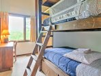 The kids are sure to love the bunk rooms!