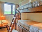 2 rooms provide twin-over-twin bunk beds