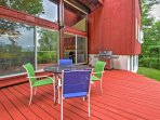Move out to the 20-foot deck and revel in the beauty of nature! Fire up the gas grill and share stories with the whole...