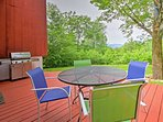Tucked away among the trees, this 1,600 square-foot home sleeps 9 and offers unparalleled views of the surrounding...