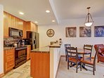 Enjoy dining close to the kitchen