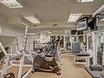 Fitness room available on the Garden Level