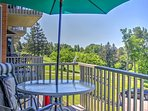 Dine al fresco or just enjoy the splendid lake views from this private back deck.