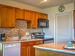 You and your travel companions can look forward to delicious homemade dinners in this fully equipped kitchen.