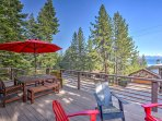 Admire the stunning views from this spacious deck.