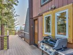 Start off the gas grill and enjoy an afternoon barbecue on the wraparound deck.
