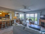 Make yourself at home in the comfortable condo.