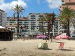 Vista de la Urbanización desde la playa
