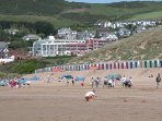 Woolacombe village - by the beach