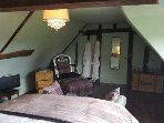 Top bedroom with luxury linen, dressing gowns and freeview TV