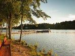 A lakeside vista!
