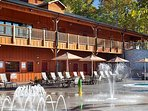 Near the General Store is an outdoor pool area with a seasonal spray ground! Fun for all ages.