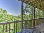 Sip your morning coffee with a spectacular mountain view from this private deck.