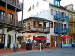 Rosemary Beach Downtown South Side Shops and Restaurants