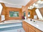 Main House Bathroom with Jacuzzi Tub.