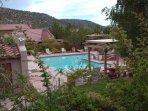 birds eye view of community pool