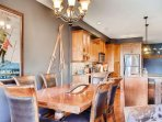 Snowbird 304 Dining table and Kitchen